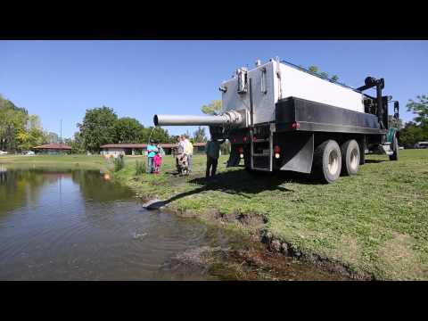 Columbia Park pond gets stocked with rainbow trout