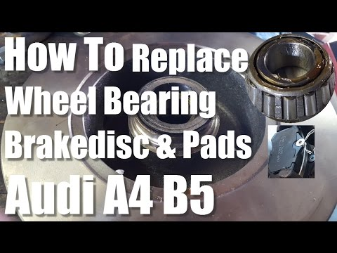 DIY How to Replace a Wheel Bearing Brakedisc and Pads AUDI A4 B5
