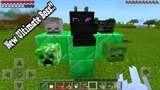 how to spawn the new ultimate boss in minecraft pocket edition