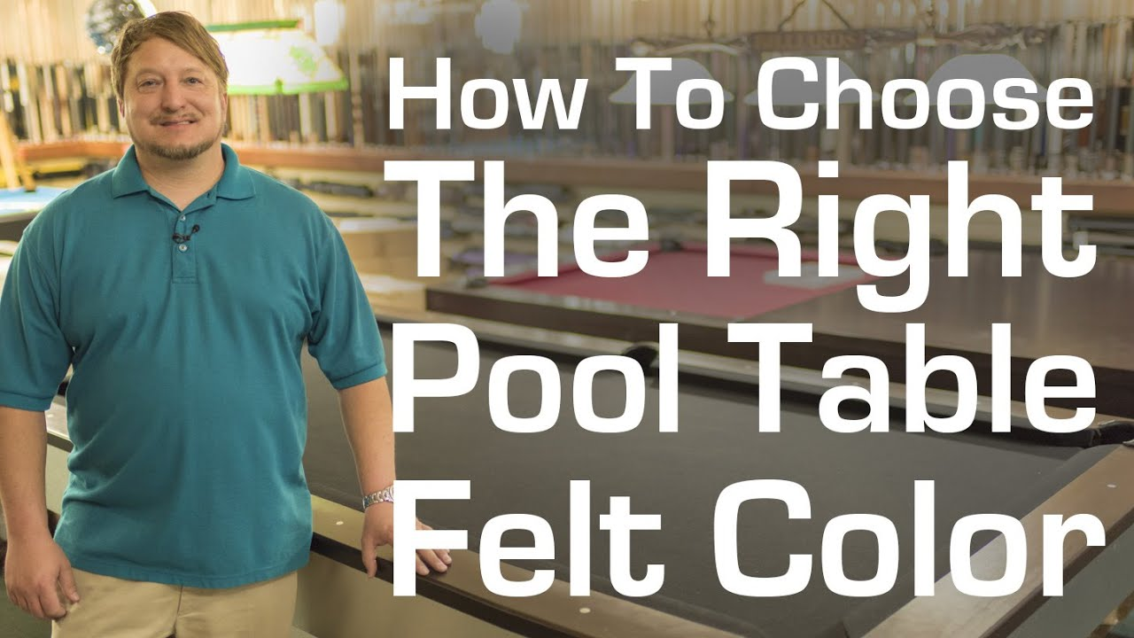 How To Choose The Right Color Pool Table Felt