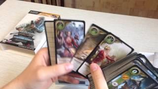 Карты для игры в Гвинт Распаковка Каменные Сердца Ведьмак 3