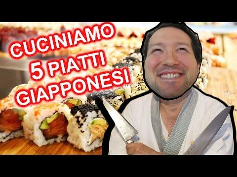 Prepariamo 5 piatti Giapponesi Sushi Ramen Dorayaki Tonkatsu Cotton Cheesecake