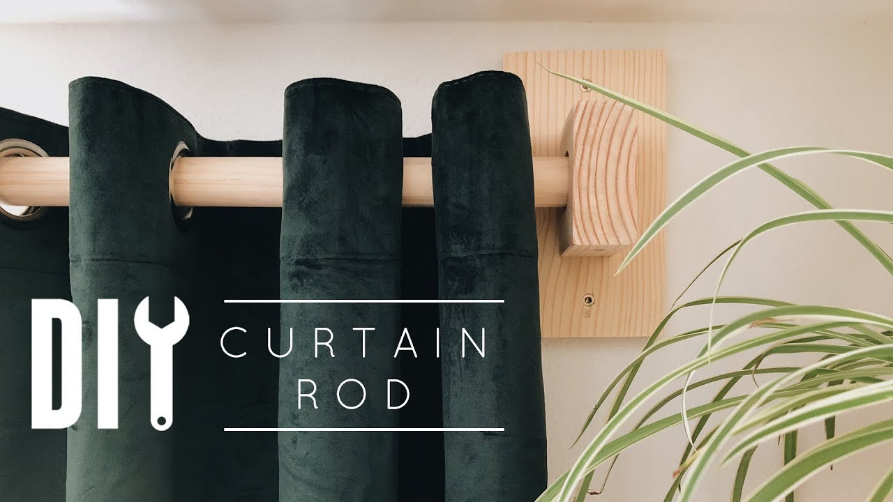 DIY Curtain Rod - YouTube