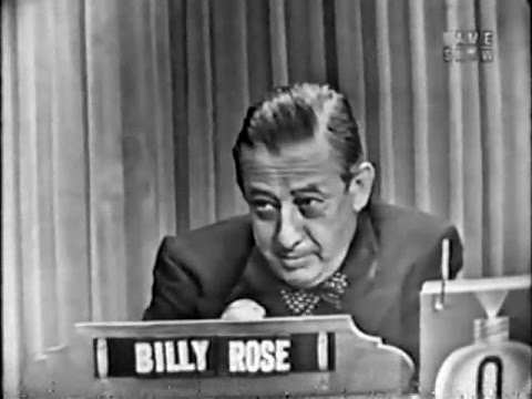 What's My Line? - Billy Rose (Aug 23, 1953) [CORRECTED]