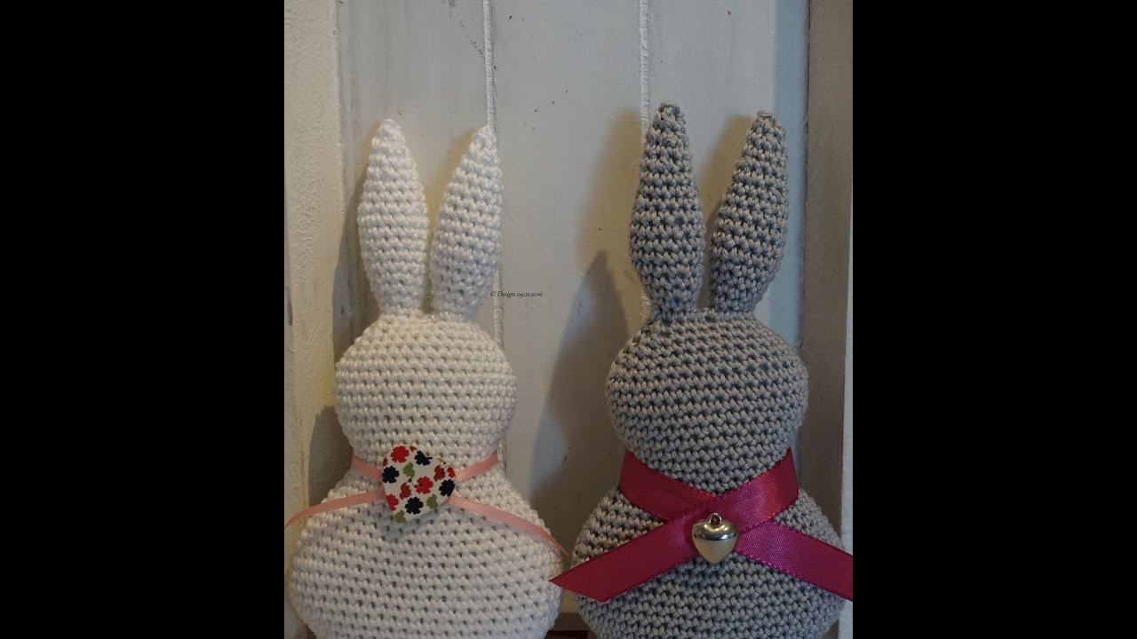 Ostern Dekoration Hase Häkeln Diy Crochet Easter Bunny Eng Sub