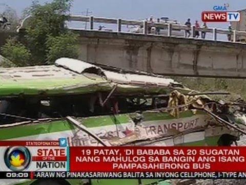 SONA: 19 patay, 'di bababa sa 20 sugatan nang mahulog sa bangin ang pampasaherong bus