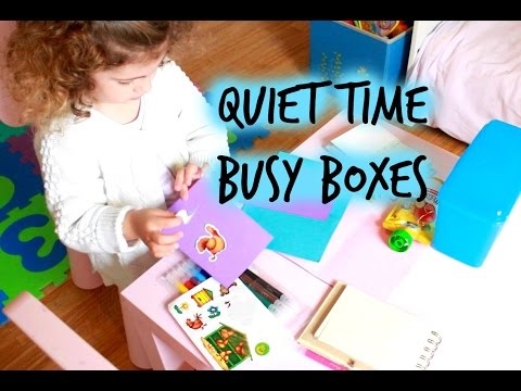 Quiet time busy boxes (Creative screen time alternative for kids)