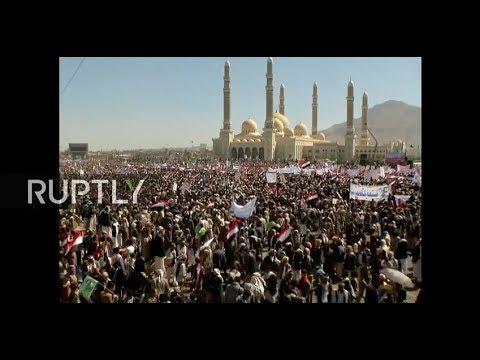LIVE: Yemenis rally in Sanaa on third anniversary of war