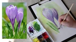 Как рисовать цветы акварелью.
