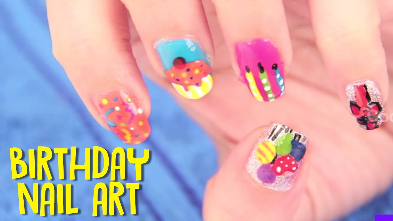 Birthday Nail Art Designs Tutorials Crazy Funny Birthdays Hy Nails For Beginners 5 You