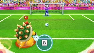 Mario and Sonic at the London 2012 Olympic Games (Wii) - All Characters Football Gameplay