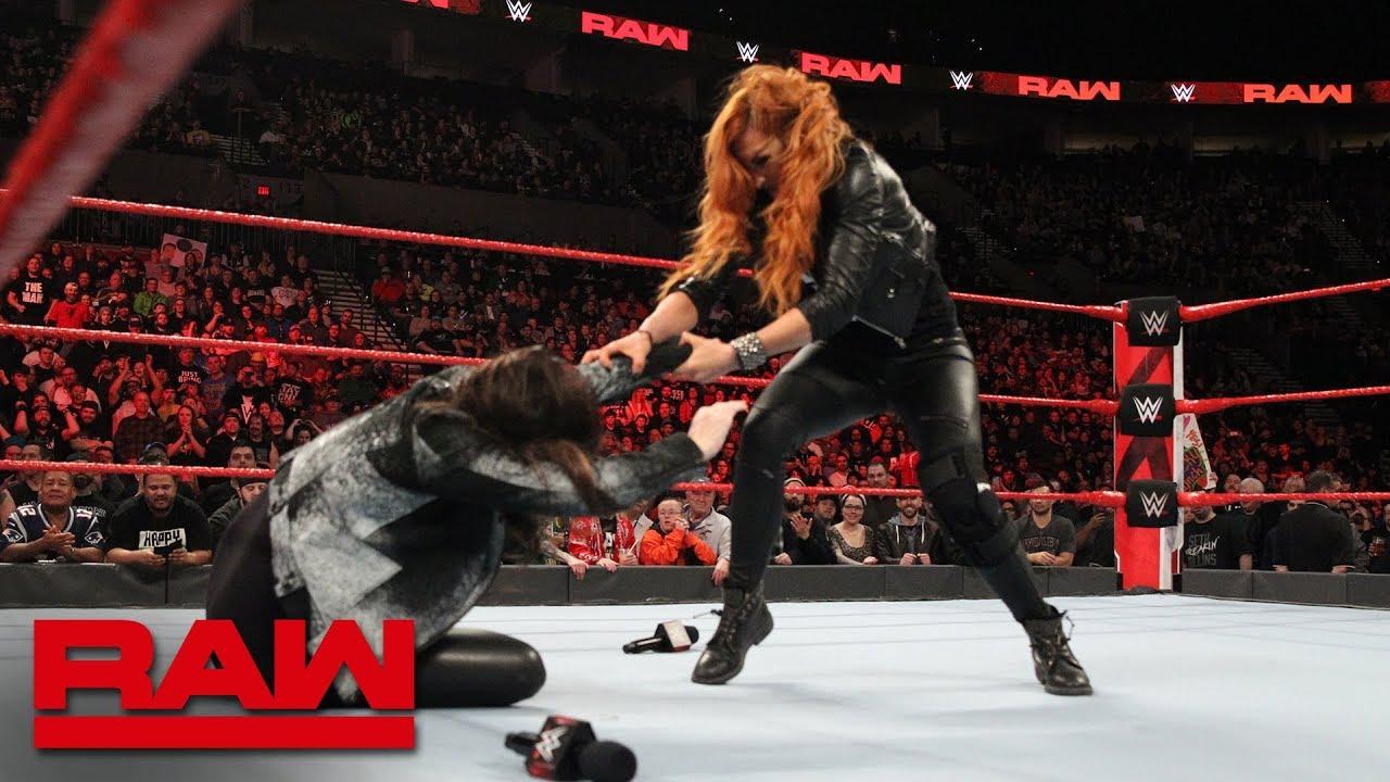 Becky Lynch attacks Stephanie McMahon: Raw, Feb. 4, 2019