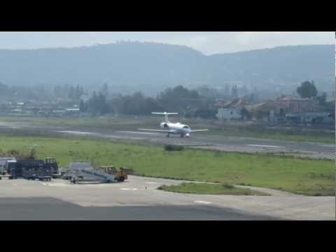 Hellenic Air Force Embraer 135LR take off.