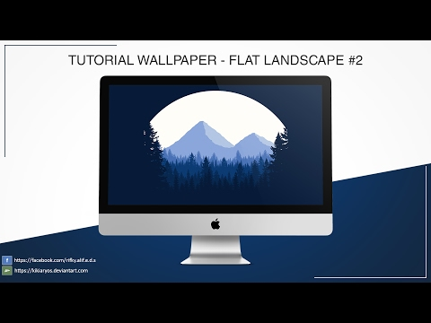 Tutorial Photoshop - Wallpaper Flat Landscape 2