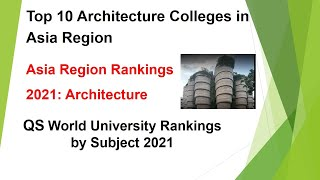 Top 10 Architecture Colleges in Asia 2021