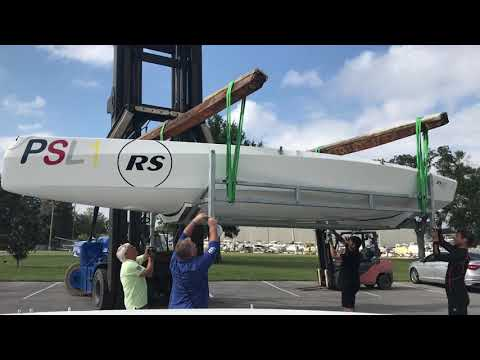 The Premiere Sailing League RS 21's — Unloading And Keeling Up