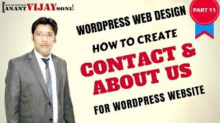 [PART 11] How to create Contact Page & About Us Page for WordPress Website.