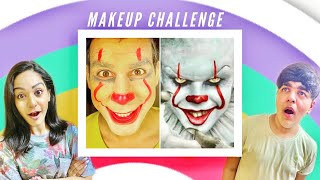 MAKEUP CHALLENGE WITH BROTHER & SISTER | Rimorav Vlogs