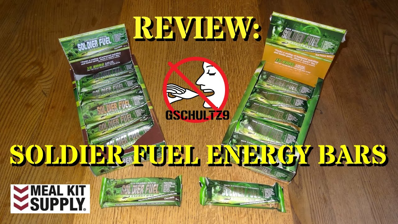 review soldier fuel energy bars from meal kit supply youtube