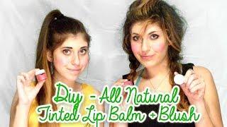 diy all natural tinted lip balm and blush recipe