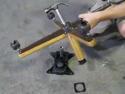 How to Replace Chromcraft Caster Chair Plastic Bushing on a Swivel