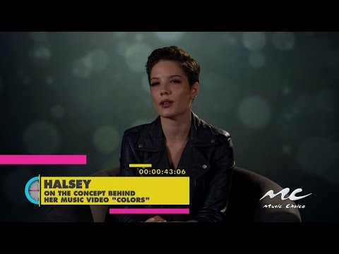 "Halsey on Her ""Colors"" Music Video"