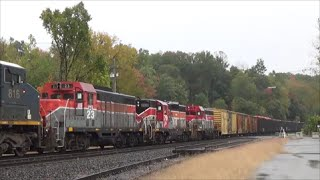 [HD] CSX and Amtrak in the Pioneer Valley, Feat. Ex- Bangor and Aroostook: 10/11/14