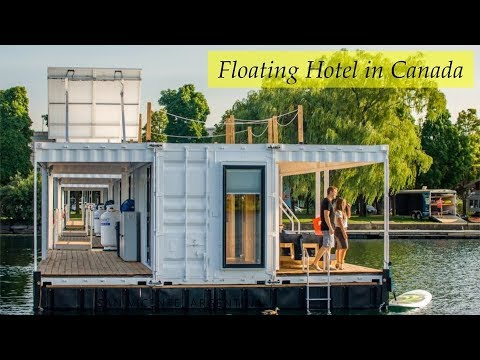 Flotel: Floating Container hotel in Salaberry-de-Valleyfield