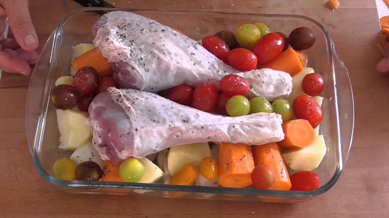 Cocinar Muslos De Pavo   Muslo De Pavo Al Horno Con Verduras Youtube