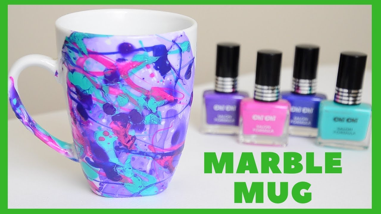 Diy water marble galaxy mug dishwasher safe ali coultas youtube solutioingenieria Image collections