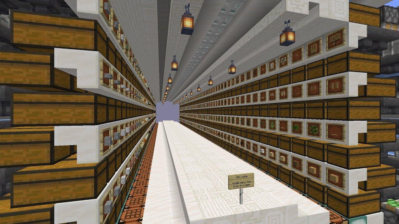 1 14 Skyblock Ep 31 Quartz Factory Finished Main Storage System Youtube