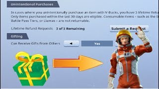 "Fortnite Giving *Skins* Feature! (""Gifting"" in Fortnite)"