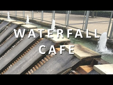Cafe Waterfall | Ambient Waterfall Sound | ASMR