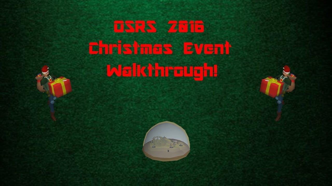 OSRS 2016 Christmas Event Walkthrough Guide (Carols Christmas ...