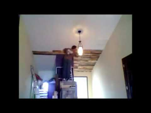 Pallet ceiling - YouTube
