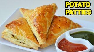 POTATO PATTIES  Aloo k Patties With Homemade Dough by (YES I CAN COOK) #PotatoPatties #AlooPatties