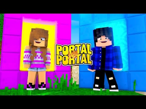 GIRL PORTAL VS BOY PORTAL CHALLENGE - TinyTurtle Vs LittleKelly
