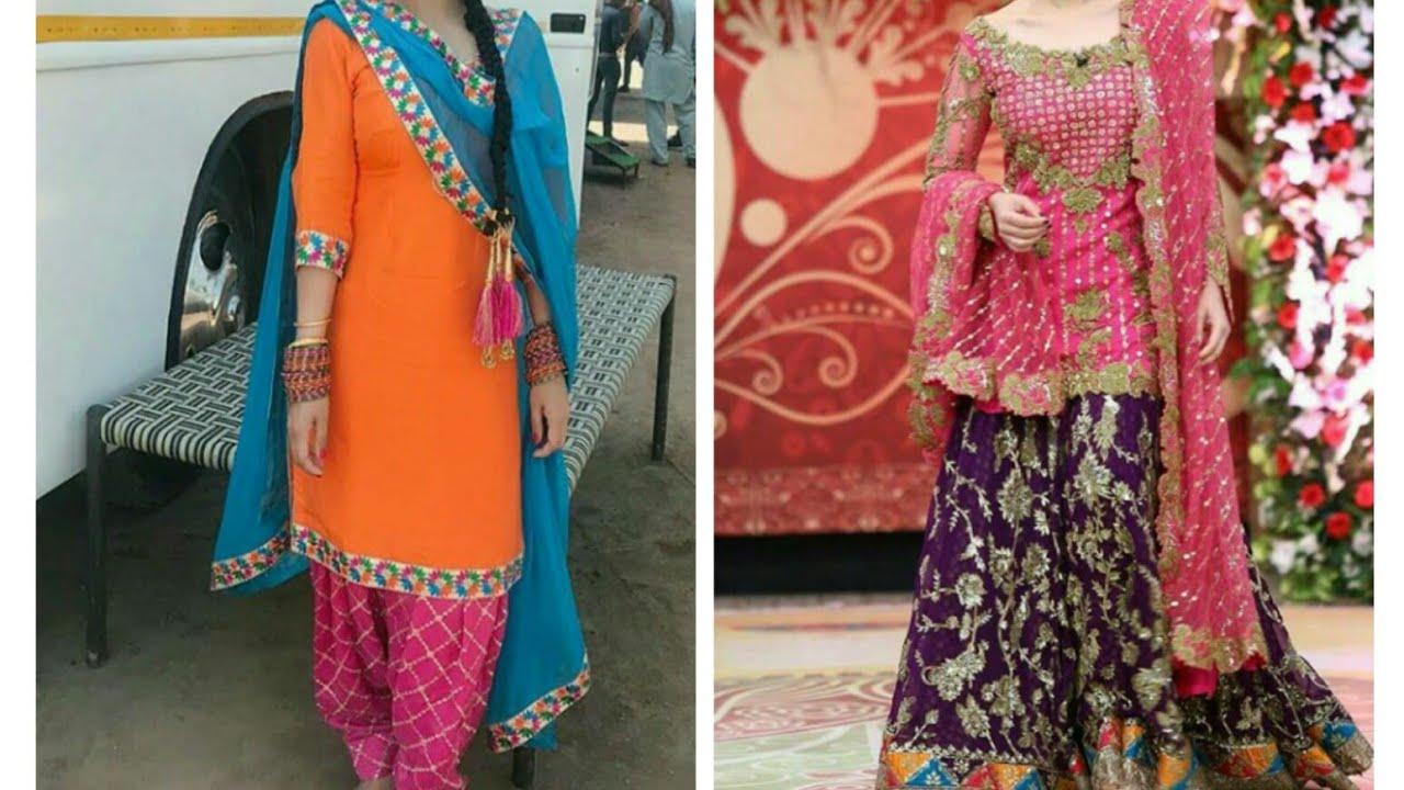 c6be5cf45e7 New Punjabi suits design2018 patialashahi salwar suits plazzo suits party  wear latest Punjabi suits