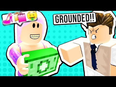 SPENDING ALL MY DAD'S MONEY (Roblox Roleplay)