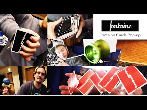 Fontaine Cards Pop-up // cardistry // Franky Morales, Franco Pascali, Chris Severson, Michael James