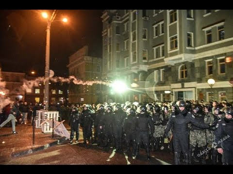 C3 Zorya Louhansk - Manchester United fans attack by Odessa fans