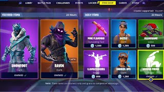 GROUND POUND | SNOWFOOT | LLAMACADABRA | RAVEN; Item Shop in FORTNITE #January5th