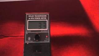inflector window insulators regular bz and sr 15 solar heat testing