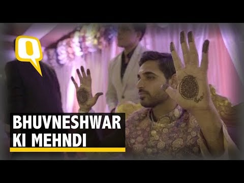 Bhuvneshwar Kumar Looks Super Cute During His Mehndi Ceremony | The Quint