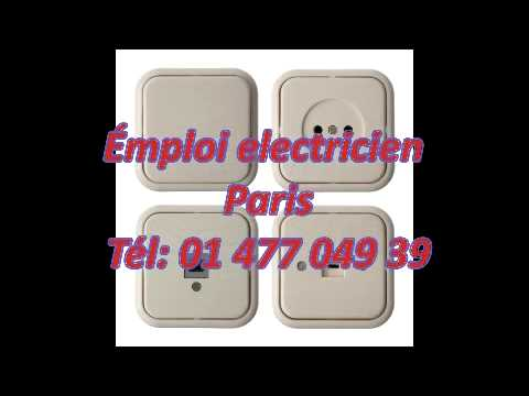 emploi electricien paris t l 01 477 049 39 youtube. Black Bedroom Furniture Sets. Home Design Ideas
