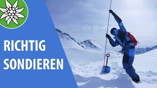 Richtig Sondieren | SicherAmBerg Skitouren