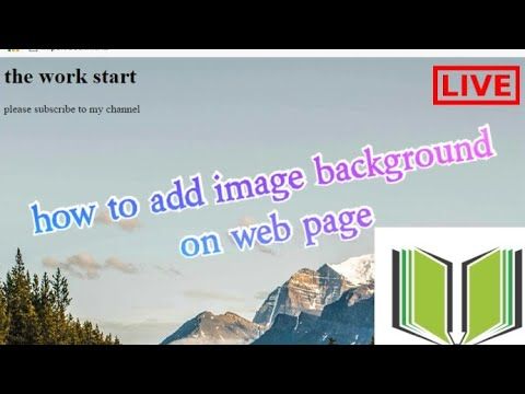 How To Use Image In Web Page