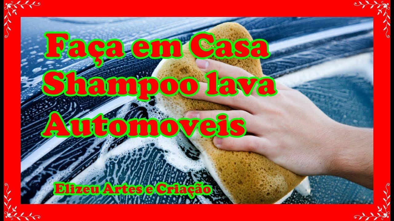 Shampoo Caseiro Para carros