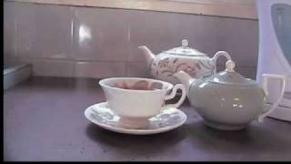 MAKING AN ENGLISH CUP OF TEA.