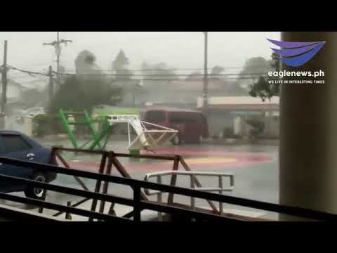 Video footage on the landfall of Typhoon Rosita in Isabela